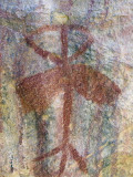 A Chumash Indian Pictograph Above a Cave Entrance