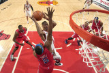 Los Angeles Clippers v Chicago Bulls: Derrick Rose  Baron Davis and DeAndre Jordan