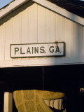 The Railroad Station Sign for Plains  Georgia