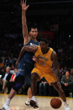 Washington Wizards v Los Angeles Lakers: Ron Artest and Yi Jianlian