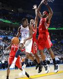 Houston Rockets v Oklahoma City Thunder: Kevin Durant and Jordan Hill