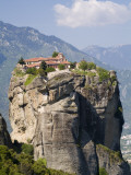 The Agia Trias Monastery Located on One of the Meteora Peaks