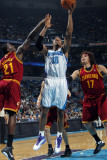 Cleveland Cavaliers  v New Orleans Hornets: David West and JJ Hickson