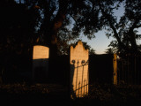 Sunlight Strikes a Tombstone at the Cemetery in Dungeness