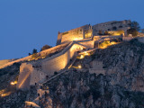 The Palamidi Fortress Above Navplion at Night