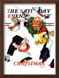"""White Christmas"" Saturday Evening Post Cover  December 25 1937"
