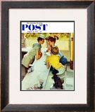 """Soda Jerk"" Saturday Evening Post Cover  August 22 1953"