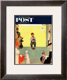 &quot;At the Vets&quot; Saturday Evening Post Cover  March 29 1952