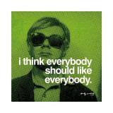 Tout le monde, en anglais Giclée par Andy Warhol