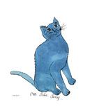 Un petit chat bleu, vers 1954 Giclée par Andy Warhol