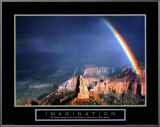Imagination: Mountain with Rainbow