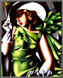 Jeune Fille Vert