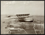 Dormier Do-X  in Flight over Norfolk  Virginia  1931