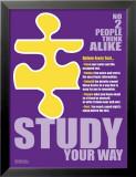 Study Your Way Reproduction laminée et encadrée