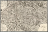 Plan de la Ville de Paris  1715