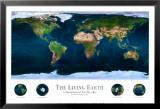 Photos de l'espace: la Terre vivante Reproduction laminée et encadrée