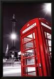 Red Telephone Box Poster en laminé encadré