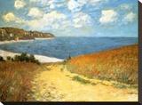 Chemin dans les blés à Pourville, 1882 Tableau sur toile par Claude Monet