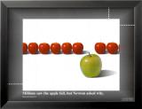 Pomme / Newton Reproduction laminée et encadrée