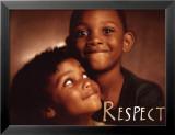 Respect Reproduction laminée et encadrée