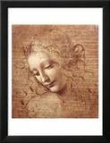 La Scapigliata ou L'Ébouriffée, vers 1508 Reproduction laminée et encadrée par Leonardo Da Vinci