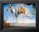 La tentation de Saint-Antoine, 1946 Reproduction laminée et encadrée par Salvador Dalí