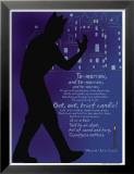 Macbeth: Out, Out, Brief Candle! Reproduction laminée et encadrée par Christopher Rice