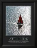 Attitude: Sailing Reproduction laminée et encadrée