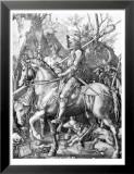 The Knight, Death and The Devil , c.1514 Reproduction laminée et encadrée par Albrecht Dürer