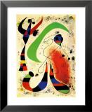 Nuit Reproduction laminée et encadrée par Joan Miró