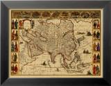 Anciennes cartesIII Reproduction laminée et encadrée par Willem Janszoon Blaeu