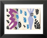 The Knife Thrower, pl. XV from Jazz, c.1943 Reproduction laminée et encadrée par Henri Matisse