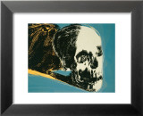 Skull  c1976 (yellow on teal)