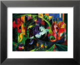 Abstract with Cattle Reproduction laminée et encadrée par Franz Marc