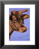 Cow, c.1971 (Purple and Orange) Reproduction laminée et encadrée par Andy Warhol