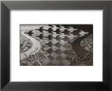 Jour et nuit Reproduction laminée et encadrée par M. C. Escher