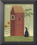 Outhouse with Dog