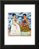 The Two Fridas, c.1939 Reproduction laminée et encadrée par Frida Kahlo