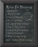 Recipes for Life II Reproduction laminée et encadrée