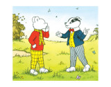 Rupert Bear and Bill Badger