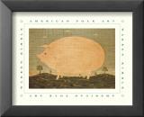 American Pig Reproduction laminée et encadrée par Warren Kimble