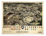 Oxford View from Air Reproduction d'art