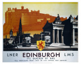 Edinburgh  It's Quicker by Rail