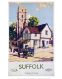 Suffolk Church  Horse and Cart