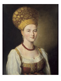 Portrait of Woman in Russian Costume
