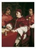Portrait of Leo X with Cardinal Luigi De&#39; Rossi and Giulio De Medici