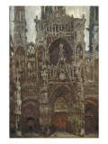 Rouen Cathedral  Evening  Harmony in Brown