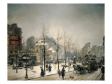 Snowy Boulevard Clichy