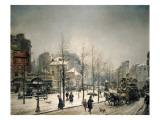 Snowy Boulevard Clichy