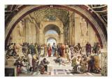 Stanza Della Segnatura: L'École d'Athènes Reproduction d'art par Raphael